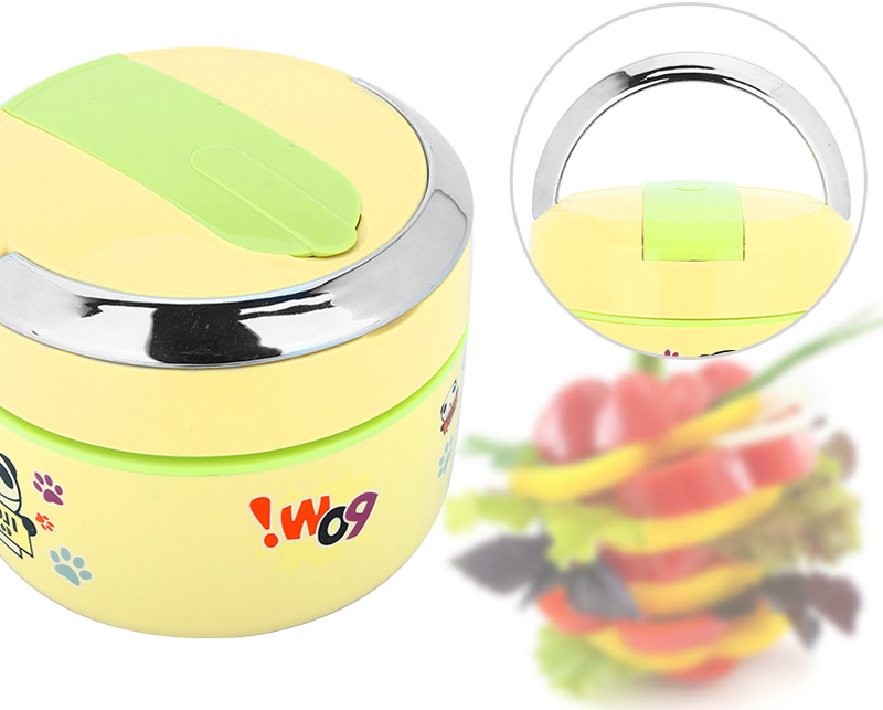 Cute Cartoon 304 Stainless Steel Lunchbox Thermal Insulation Food Storage Container Portable Handle Picnic Bento Lunch Box 18