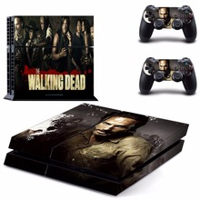 The walking Dead Exclusive Vinyl Decal PS4 Skin Stickers Wrap for Sony PlayStation 4 Console and 2 Controllers Decorative Skins
