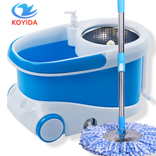 KOYIDA Magic Spin Mop Bucket Double-Drive 360 Degrees Spinning Mop Head Household Floor Cleaning Self-Wring Floor Mop(China)
