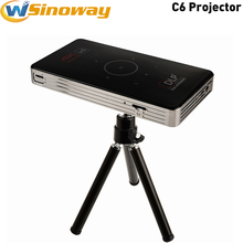 2017 New mini LED Projector C6 Android5.1 Amlogic S905 BT4.0 Home Theater fuLl HD 1080P Proyector Support TF Card and hard disk