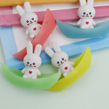 4 pcs/lot Novelty cute rabbit ship luminous rubber eraser kawaii creative stationery school supplies papelaria gifts for kids(China)