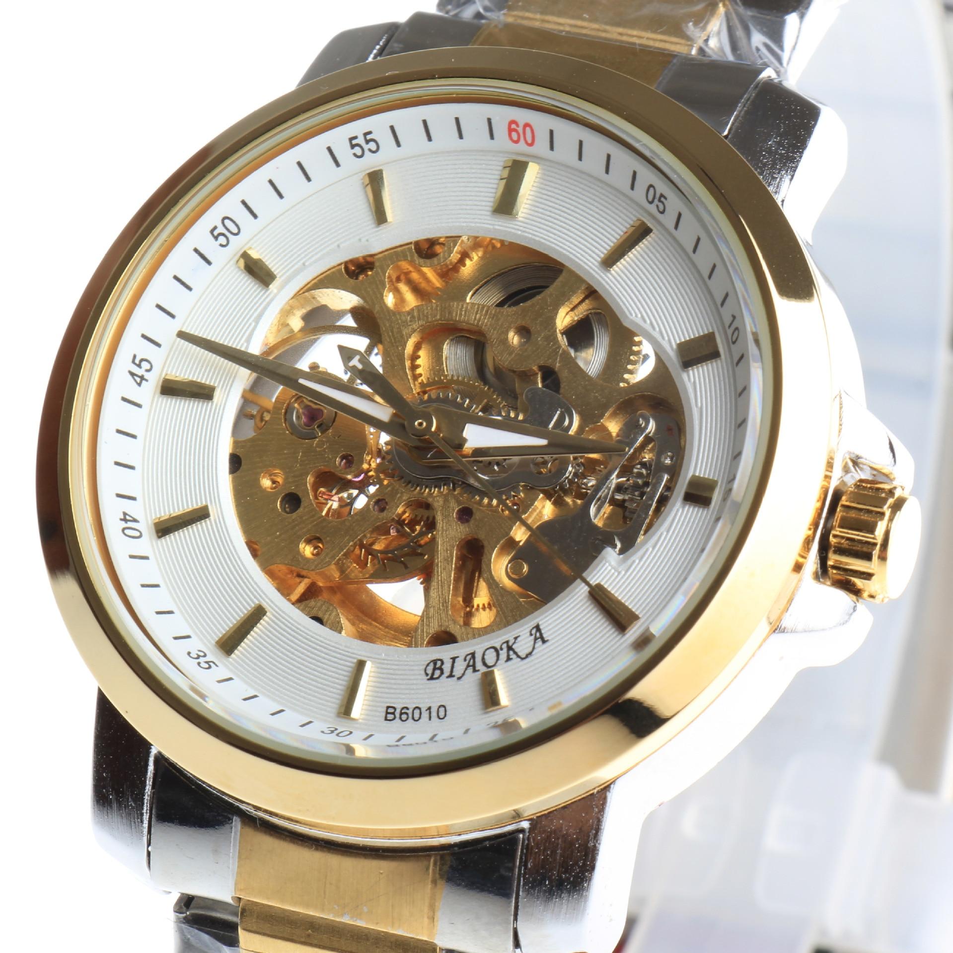 2017 hot Mens Watches Top Luxury Brand Men Automatic Mechanical Watch Men Gold Wrist Watch Relogio Masculino<br>