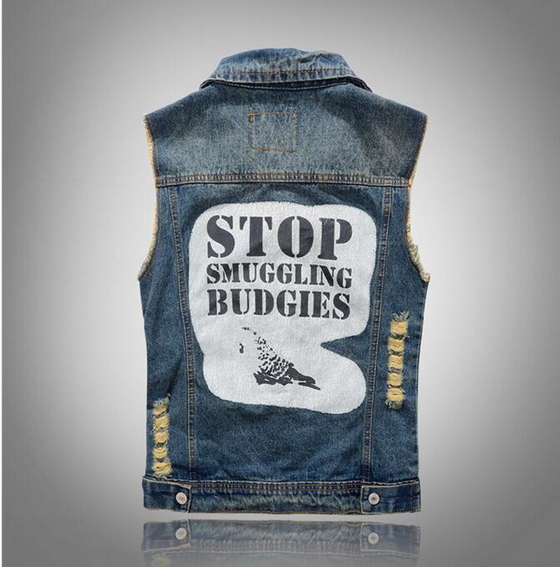 Popular Men Blue Jean Vest Jackets-Buy Cheap Men Blue Jean Vest ...