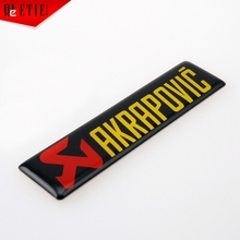 AKRAPOVLC 3M Epoxy Sticker Adhesive Printing Label Car Styling 3D Glue Sticker Aufkleber Auto Racing Decal Wrap Badge Car Emblem