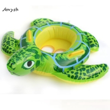 Amysh 90cm Summer tortoise Shaped Kids Inflatable Baby Toddler Swimming Swim Seat Float Pool Fish Ring Water toy inflatable toys(China)