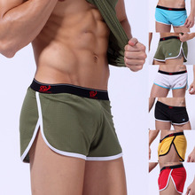 Top Quality Men mesh Sexy underwear Men Boxers Shorts Loose breathable quick dry Underpants male cuecas boxer calzoncillos(China)