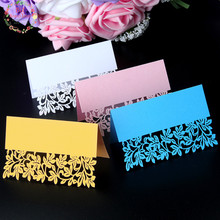 Big Heard Love 40pcs Flower Cute Laser Cut Party Table Name Place Cards Wedding Decoration Wedding Favors and Party Gifts Supply