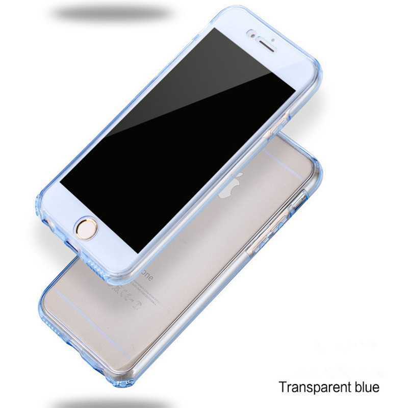 COOQII-360-Degree-Full-Protection-Cover-For-iPhone-7-6s-5s-se-case-Soft-TPU-Clear (3)