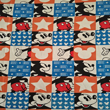 155X100cm Lovely Mickey Mouse Cotton Terry Fabric for Baby Outerwear Cloth Sewing Textile Tilda Tecido Patchwork DIY-AFCK025(China)