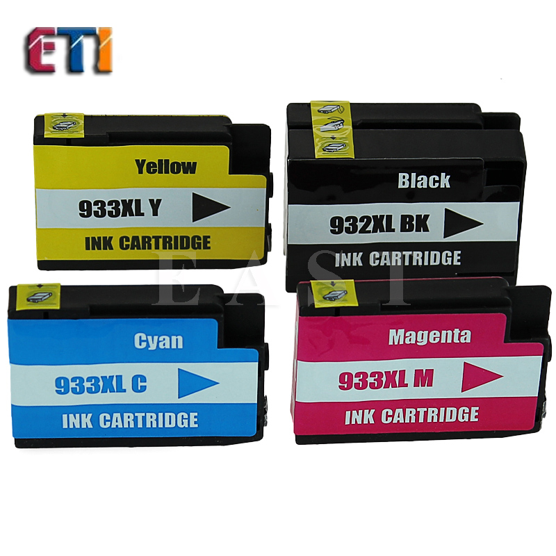 4x Ink Cartridges For HP 932XL HP 933XL For  HP932 933XL Officejet 6100 6600 6700 7110 7610 With Chip<br><br>Aliexpress