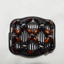 brown black sliver flower beads  magic comb 50 pcs/lot   easy updo special christmas comb easy for professional lady