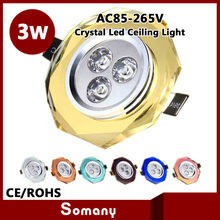 Wholesale 8pcs/lot Window Display Supplies Night Light Led Crystal Ceiling Lamp Chandelier 3W Cristal Led Luminaria Down Light