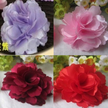 Multi Colors Lovely Flower Corsage Brooch & Hair Clip Accessory Ladies Bohemia Needle Flower Clip Headdress Dual-use Pin Jewelry