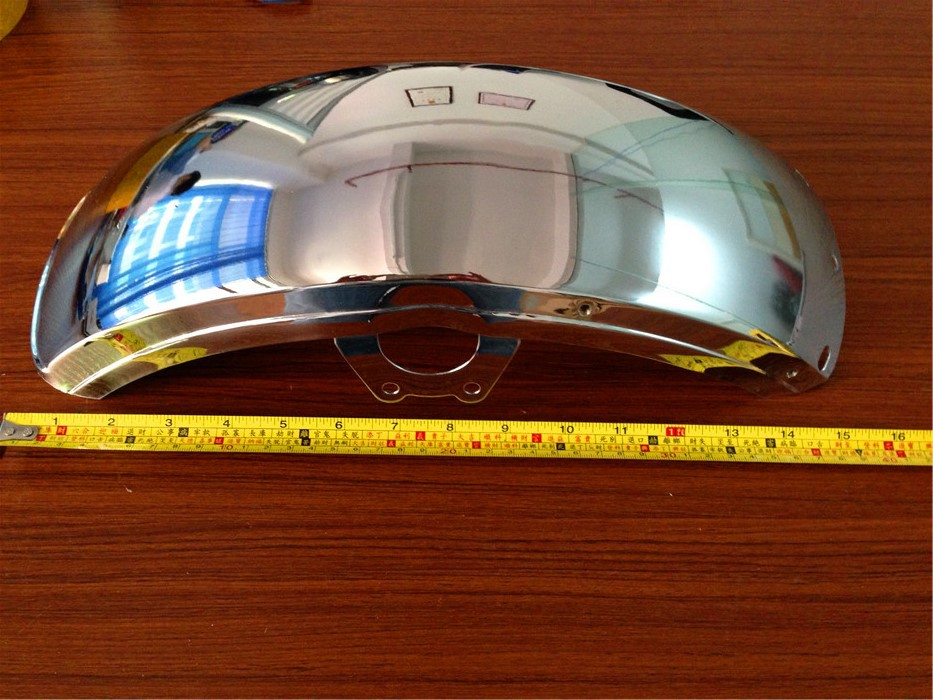 STARPAD For Motorcycles modified metal fender silver / plating around masonry<br>