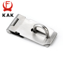 KAK-J7 Mild Steel Cabinet Box Hasp and Staple Lock Spring Latch Catch Toggle Locks For Sliding Door Window Furniture Hardware
