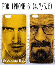 Soft TPU Hard Plastic HBO Hot TV Breaking Bad Mr.White Aaron Paul Custom mobile cell phone case for iphone 6 4.7 5.5 inch plus