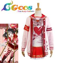 CGCOS Free Shipping Cosplay Costume Love Live ! Love Live Valentine's Day Nico Yazawa New in Stock Halloween Party Uniform