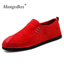 New Arrival Middle Aged Men Shoes Casual Non-Slip Mens Loafers Shoes Lazy Classic Men Walking Shoes Red Casual Sneakers For Men(China)