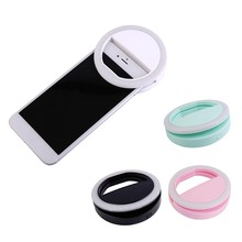 Newest Universal Mobile Phone Selfie Light Clip-On Design Luminous Lamp LED Flash Light Phone Ring For Iphone For Samsung white