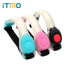 iTimo LED Wrist Arm Strap Light Safety for Bicycle Riding Running Creative Warning Outdoor Sports Night Light 2 Modes Waterproof(China)