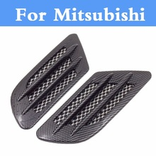 Car Shark Gill Shape Intake Grille Wind Net Sticker For Mitsubishi Galant i i-MiEV Lancer Lancer Cargo Evolution Ralliart Minica(China)
