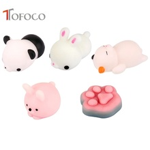 TOFOCO Antistress Funny Soft PU Pig Cat Animals Squeeze Toy Anti Stress Toys Interesting Novelty Gags Practical Jokes Prank