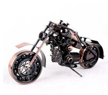 Creative personality large heavy wrought iron motorcycle models showcase household decorative furnishing articles Figurines