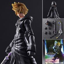 25cm Play Arts PA Kai Kingdom Hearts 2 Sora PVC Action Figure Keychain Collection Model Toy Free Shipping