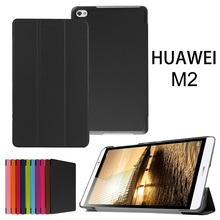 Ultra thin Smart pu leather Case cover For Huawei MediaPad M2 M2-801W M2-803L Huawei M2 8.0 tablet case +screen protector(China)