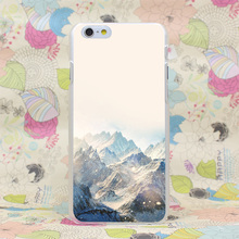 921HJ Snow Ski Mountain Winter Nature Hard Transparent Case Cover for iPhone 4 4s 5 5s SE 5C 6 6s Plus 7 7 Plus