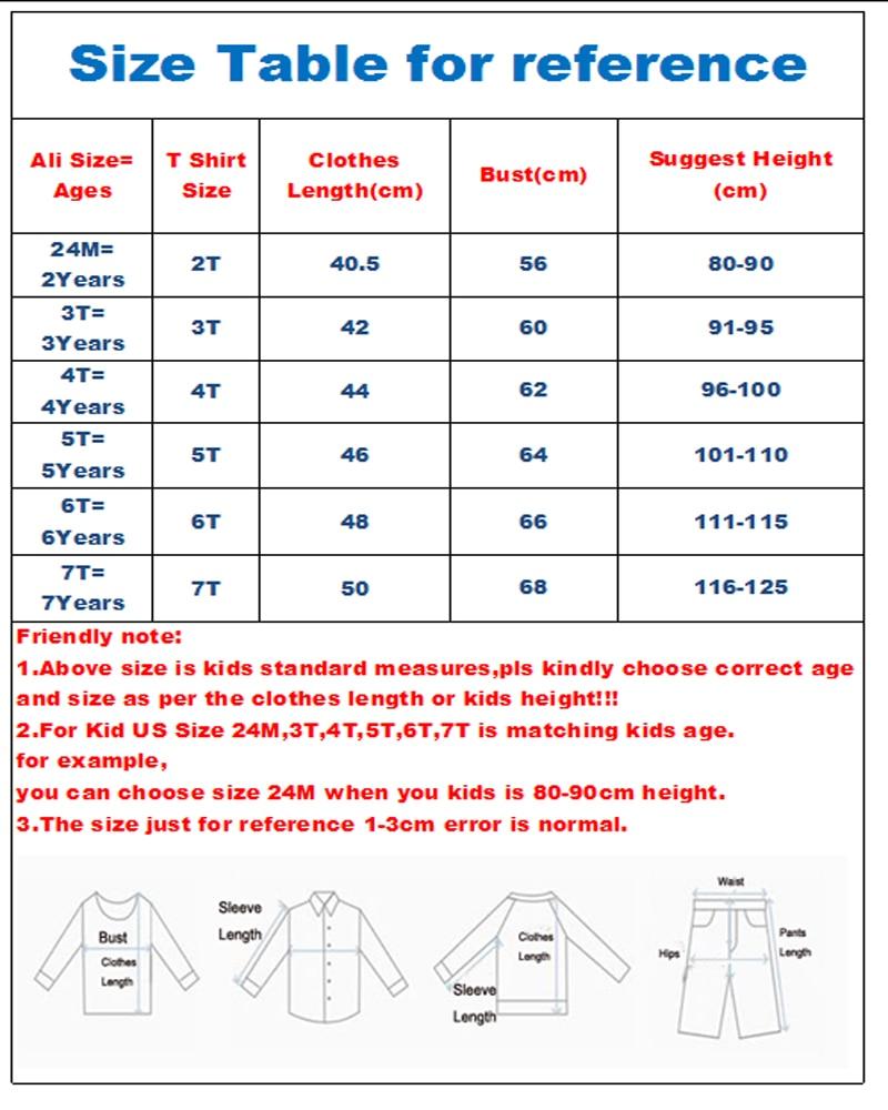 FLEXTSHIRT715 2T-7T size table
