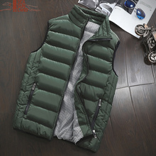 5XL Unisex Men's Cotton-Padded Vest Casual Outwear homme Winter Jackets Women's Coats Male Vest Mens Windproof Warm Waistcoat