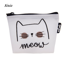 Women Girls Cute Cat Printed Coin Purse Fashion Snacks Coin Purses Wallet Bag Silicone Zipper Small Change Pouch Key Holder Bags(China)