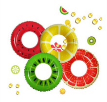 90cm Fruit Style Adult / Child Thicken PVC Watermelon Swimming Ring colorful Floating Rings Swimming Laps Swimming pool