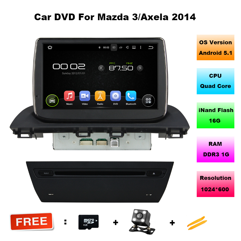 9 inch 1024 600 quad core android 5 11 car dvd radio for mazda 3 axela 2014 2015 2016 with gps