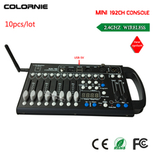 2017 NEW MINI 192Channel 2.4G Wireless DMX controller,Can Use 5V USB Portable Mobile Supply, very convenient for moving stage(China)