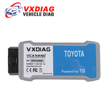 VXDIAG VCX NANO Original for TOYOTA TIS Techstream Version 10.10.018 Compatible with SAE J2534 free shipping(China)