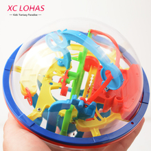 3D Magic Maze Ball 100 Levels Intellect Ball Rolling Ball Puzzle Game Brain Teaser Children Learning Educational Toys Orbit Game(China)