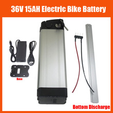 More Discount Bottom discharge 500W 36V Scooter Electric Bike battery 36V 15AH lithium battery pack with 42V 2A charger and BMS(China)