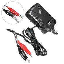 Mayitr 1pc 6V Black&Red 500MA Sealed Lead Acid Rechargeable Battery Charger Adapter