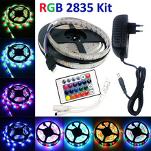 5m 2835 LED Strip led stripe Light Waterproof rgb Strip 3528 DC12V led pase 3528 lighting Blue/Whitr/Wram white for 2A adapter