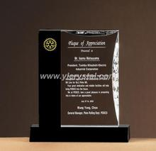 beautiful crystal award customized new design top quality black and clear book shape crystal trophy(China)