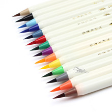 7 Colors Soft Brush Calligraphy Pen Watercolor Marker Brush Fineliner Art Marker Cartoon Design Sketch Manga Graphic Drawing(China)