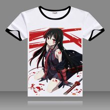 Buy 2017 T-shirts Akame Ga Kill Cosplay Black O-Neck Short Sleeve Mine Costumes Akame Print Shirts Yoshino Tops Summer Tees Store) for $11.04 in AliExpress store