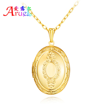 collares populares cheap metal jewelry lockets floating brass gold chain photo locket pendant charms fashion necklaces for women