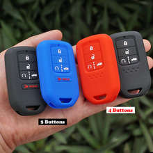 silicone rubber car remote key fob cover case holder protect for Honda 2016 2017 CRV Pilot Accord Civic Fit Freed keyless entry