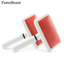 FameBeaut Dog Brush Pet Dog Comb Long Hair Brush Plastic Handle Puppy Cat Dog Massage Bath Brush Multifunction Pet Grooming Tool