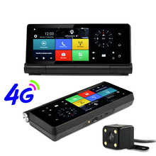 Udricare 7 inch 4G SIM Card Android 5.0 WiFi Bluetooth Phone Dashboard GPS Dual Lens FHD1080P 1GB RAM Rear View Camera DVR GPS(China)