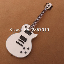 Alpine white color customized LP electric guitar, ebony fingerboard and black hardware electric guitar  Free shipping