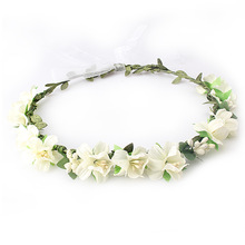 M MISM 2017 New Brand Fashion Flower Wedding Headband Summer Hair Accessories Ribbon Headwear Women Princess Crown Wreath Band